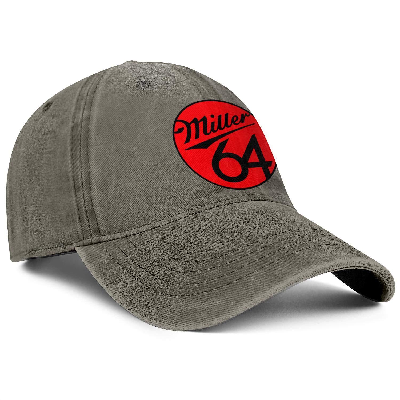 Mens Women Miller-Lite-Miller-64 Cap Vintage Cowboy Hat Baseball Caps Denim