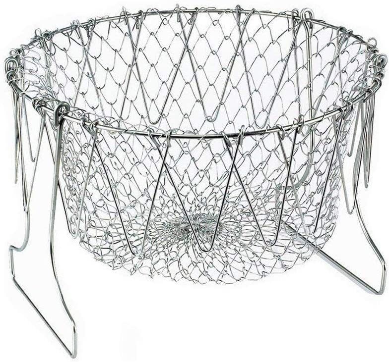 Foldable Fry Basket Multi-Function kitchen basket - Cooking Basket for Frying, Steaming, Straining, Rinsing, and more