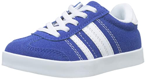 ZIPPY Boys Zapatillas De Color para Niño Low-Top Sneakers, Blue (Turkish