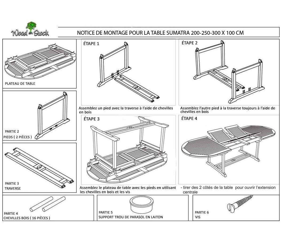 salon de jardin en teck huilé grande taille 12 places: Amazon.fr: Jardin