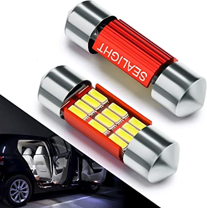 Bombillas LED Coche 31mm SEALIGHT 12 SMD Canbus Error Free Techo ...