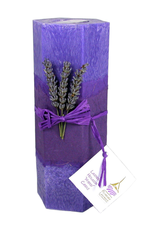 Pelindaba Lavender Decorative/Aromatherapy Hexagon Candle - soy & palm wax - purple