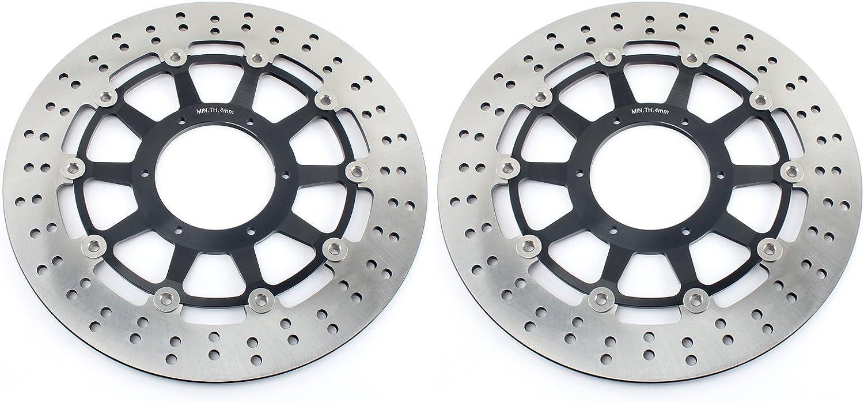 TARAZON 2pcs Moto Rotores Discos de Freno Delantero y Pastillas para H.o.n.d.a CBR 929 954 RR Fireblade