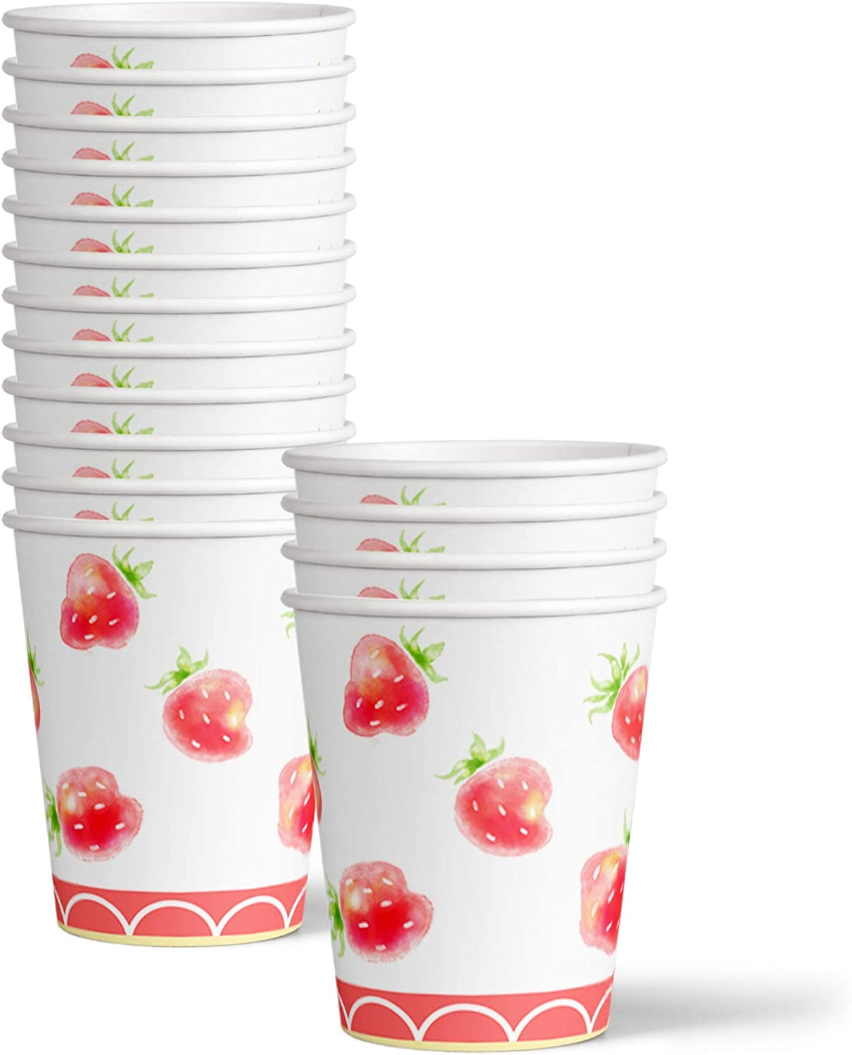Strawberry Birthday Party Supplies Set Plates Napkins Cups Tableware Kit for 16