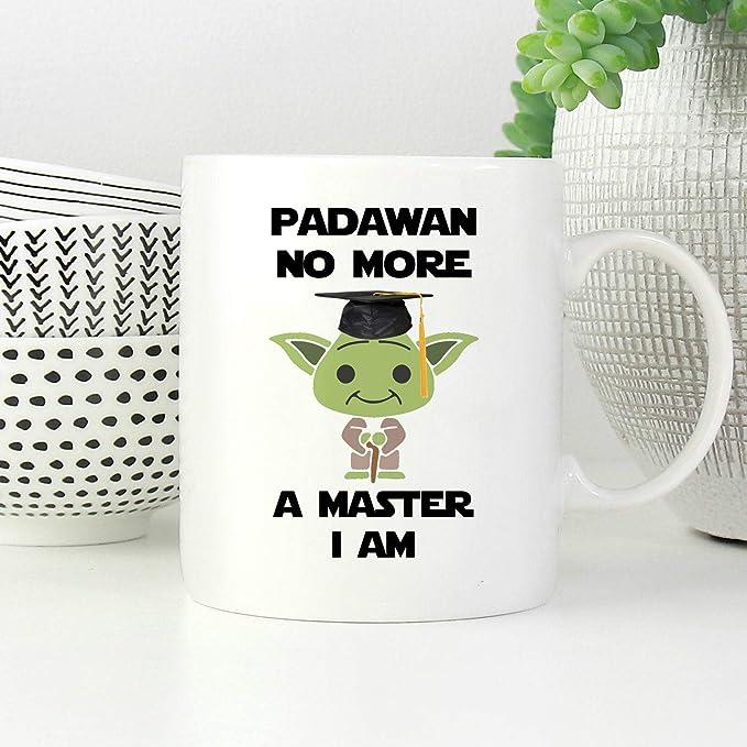 11 Oz Coffee Mug Funny Graduation Gift Ideas Padawan Grad Mug Masters Degree Gift Phd Coffee Mug Master I Am Gift Mug Amazon Co Uk Kitchen Home
