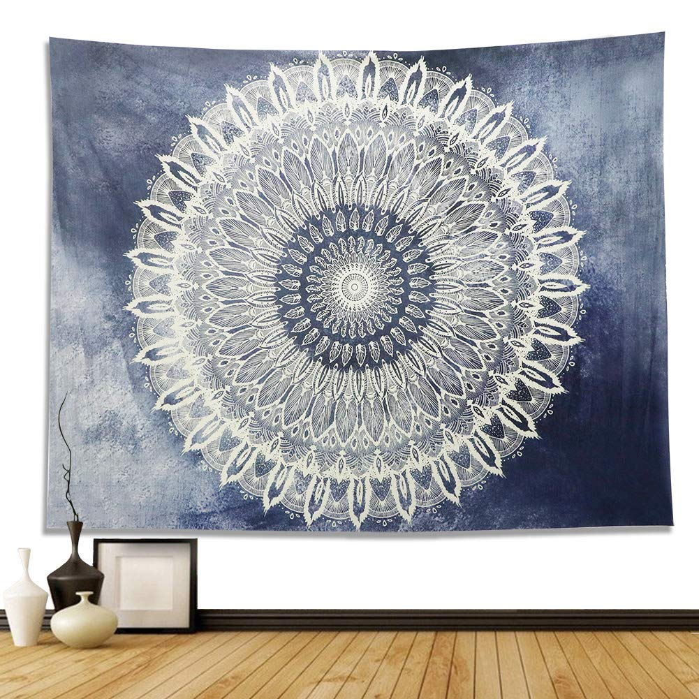 Dremisland Indian Wall Decor Hippie Tapestries Bohemian Mandala Tapestry Wall Hanging Throw (L, Gradient Pattern)