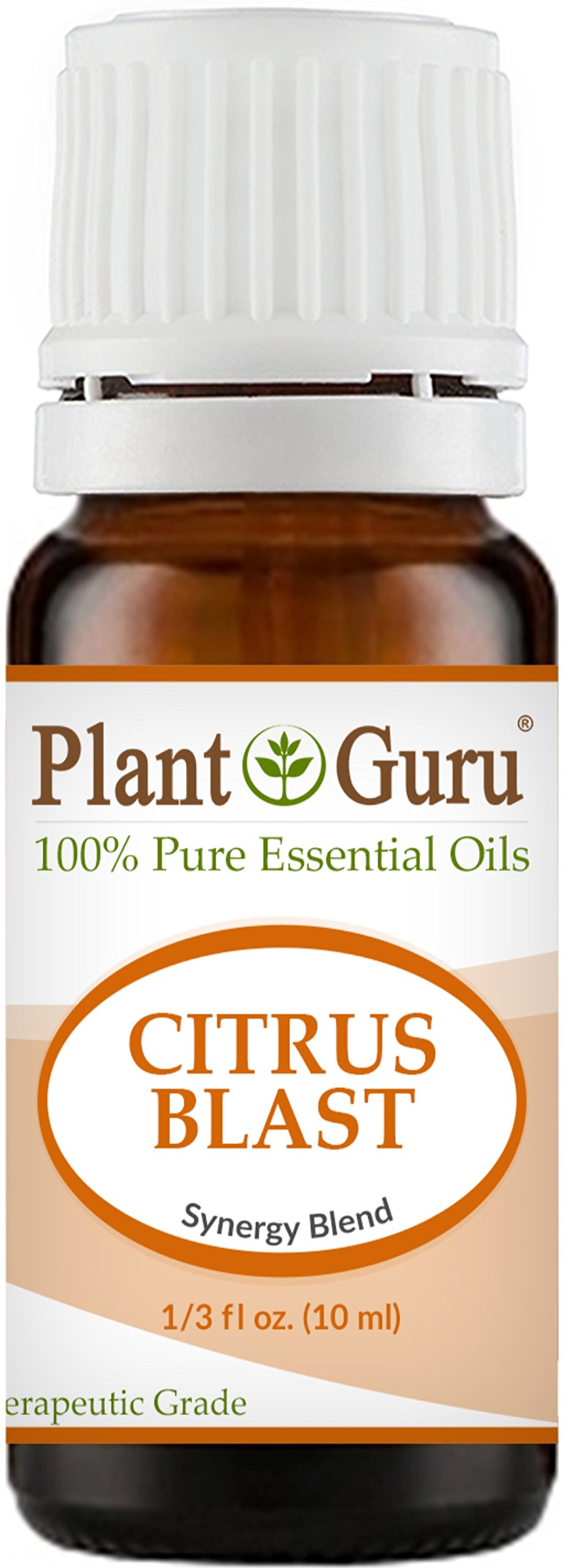 Citrus Blast Synergy Essential Oil Blend 10 ml. 100% Pure, Undiluted, Therapeutic Grade. Relaxation, Boost Mood, Uplifting, Calming, Anxiety, Depression, Stress Aromatherapy, Diffuser.