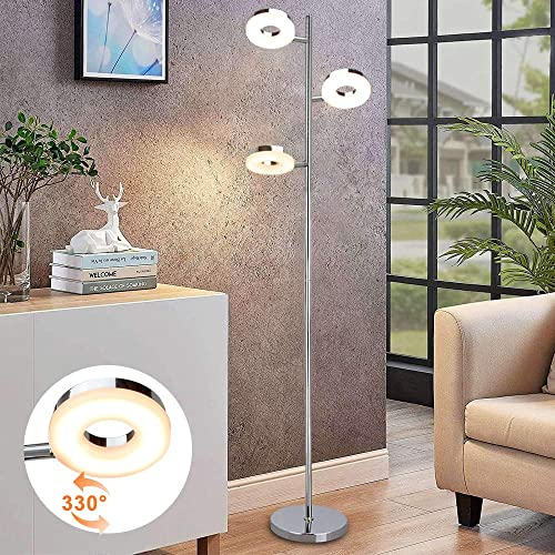 DLLT 3 Light LED Floor Lamp-Modern Indoor Standing Light