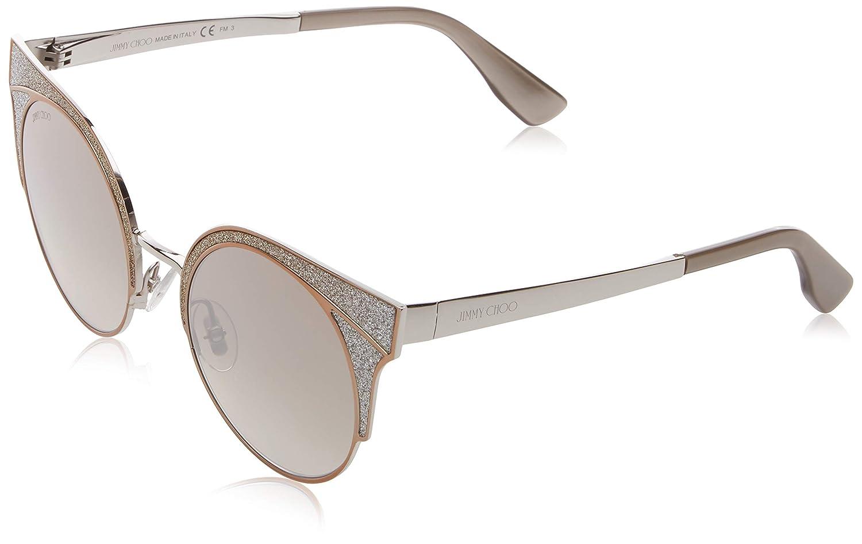 4f66d65d68 Amazon.com  Jimmy Choo Ora S 1KL Beige Ora S Round Sunglasses Lens Category  3 Lens Mirrored  Jimmy Choo  Clothing