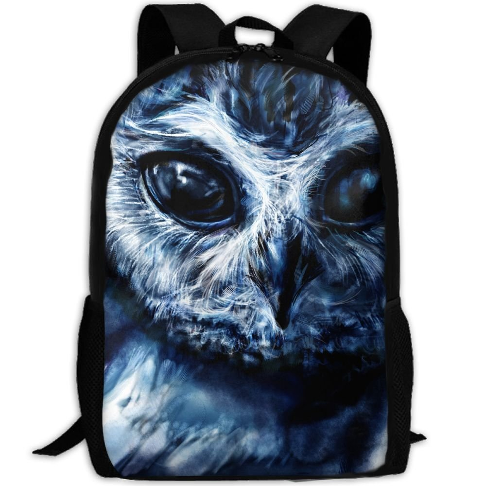 CY-STORE Owls Painting Art Print Custom Casual School Bag Backpack Travel Daypack Gifts