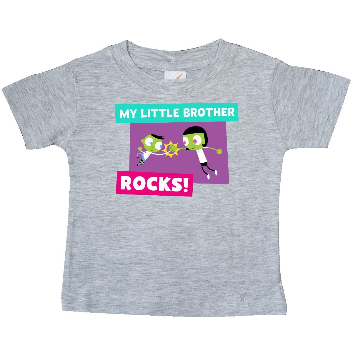 PBS Kids inktastic My Little Brother Rocks Dot and Del High 5 Baby T-Shirt