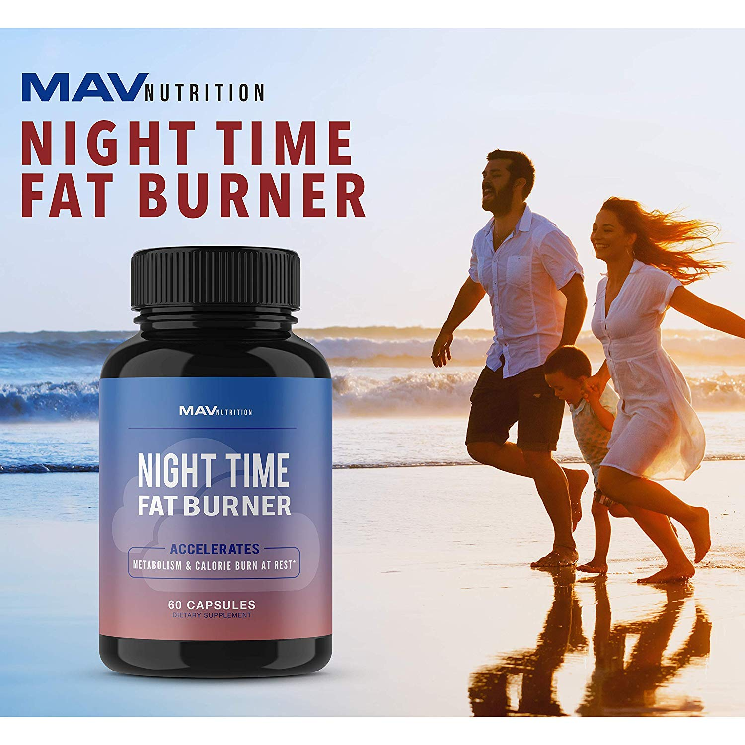 Night Time Fat Burner Weight Loss Pills Formulated to Burn Fat and Aid in Suppressing Appetite, Supports a Restful Night Sleep While Increasing Metabolism Rates and Decreasing Morning Cravings