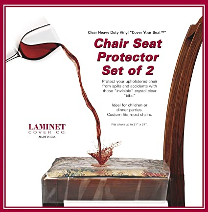 Clear Vinyl Chair Protectors Fits Chairs up to 21 Inches by 21 Inches Set of