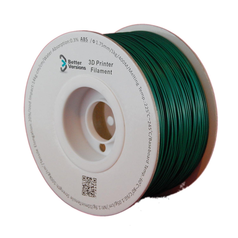 BV disfraces Verde ABS 1,75 mm 3d impresora filamento: Amazon.es ...