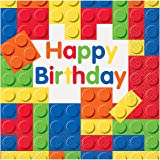 Building Blocks Birthday Party Napkins, 16ct