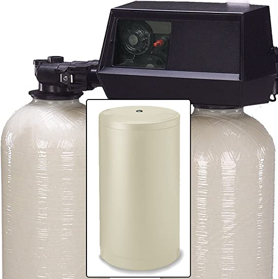Afwfilters Fleck 9100 Dual Tank Water Softener 64k 64 000 Grain Metered On Demand Control Amazon Com