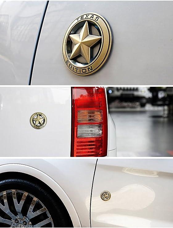 Dsycar 3D metal Texas Edition stella a cinque punte auto adesivo logo emblema distintivo adesivi per auto styling fai da te Decorazione accessori