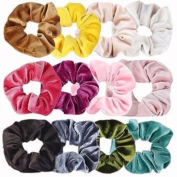 5 Stück Soft Velvet Scrunchies Haarschmuck für Frauen Mädchen Geschenk