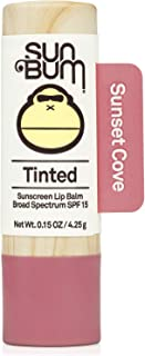 product image for Sun Bum Tinted Lip Balm Sunset Cove | SPF 15 | UVA / UVB Broad Spectrum Protection | Sensitive Skin Safe | Hypoallergenic, Paraben Free | Ozybenzone Free | 0.15 Oz