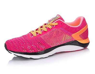 8586cfc9a93 LI-NING Women s Super Light XIV Running Shoes Lining Cushion Comfort  Breathable DMX Sneakers Rose
