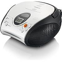 Lenco SCD-24 Stereo UKW-Radio mit CD-Player und Teleskopantenne weiß
