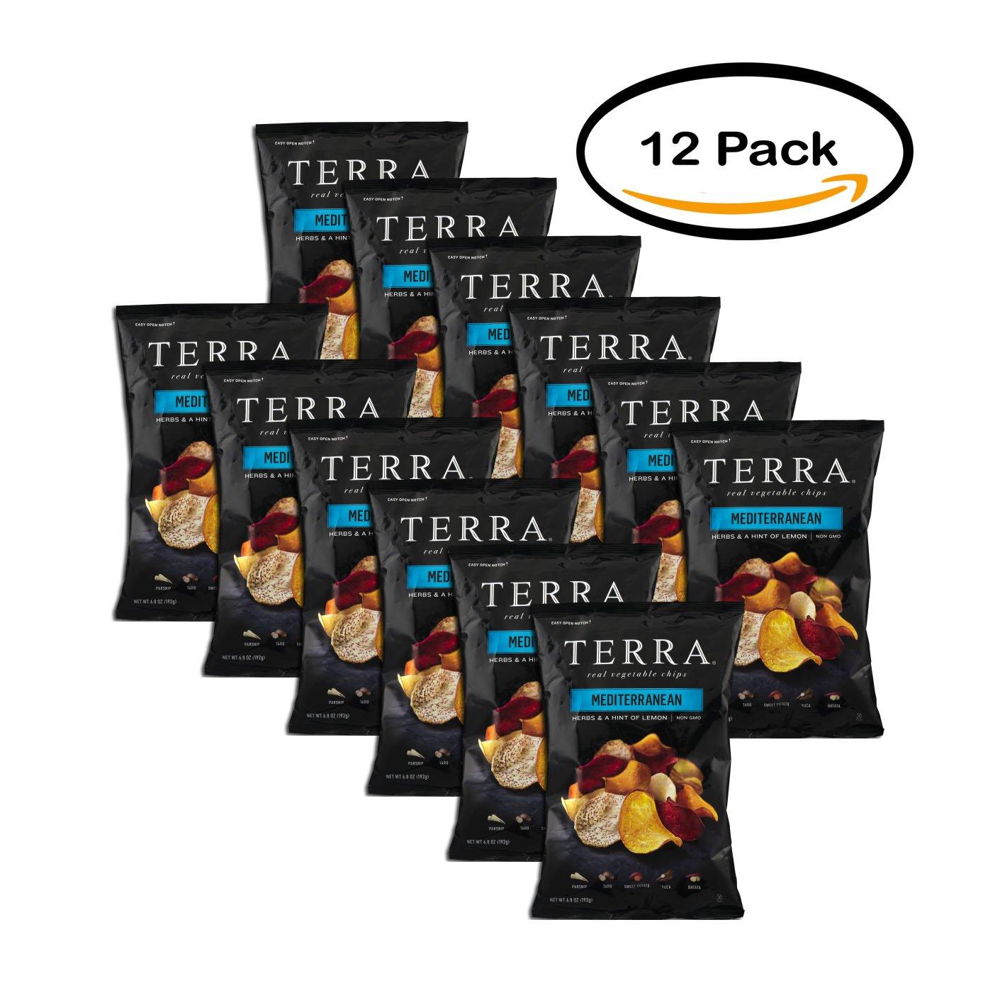 PACK OF 12 - Terra Mediterranean Real Vegetable Chips, 6.8 oz by Terra