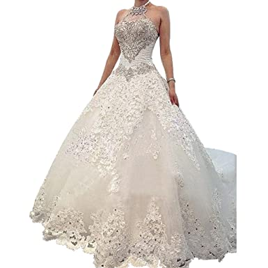Borje Charming Design Top Crystal Luxury Wedding Dress With ...