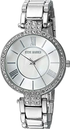 752f5653fa3 Image Unavailable. Image not available for. Color  Steve Madden Women s  Quartz Watch with Alloy Strap ...