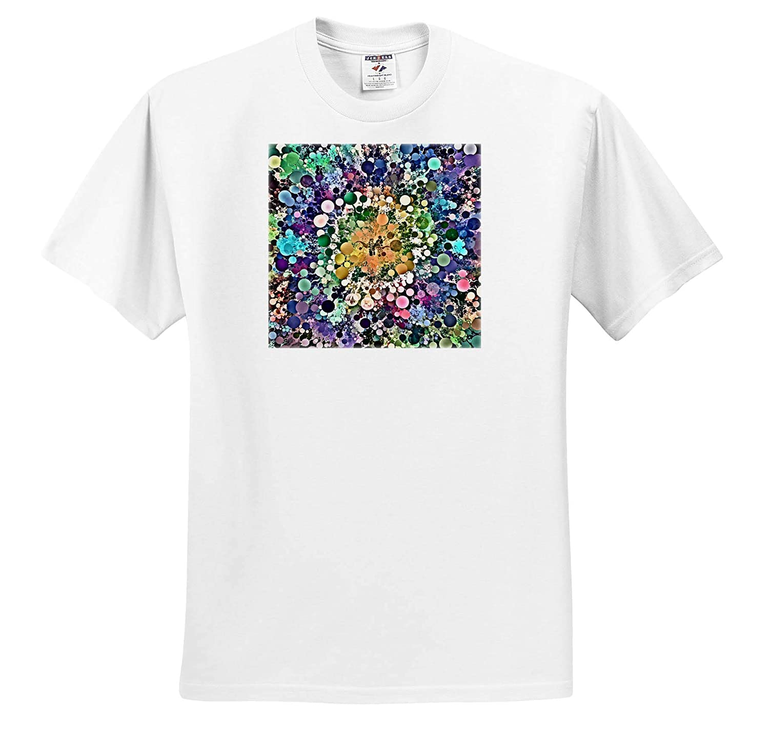 Concentric Abstract of Varying Sized and Colored Circles with Rotation T-Shirts Abstract 3dRose Perkins Designs