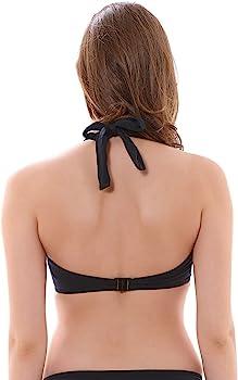 Freya Remix Bikini Tops Swim Underwire Padded Halter Black AS3943 Various Sizes