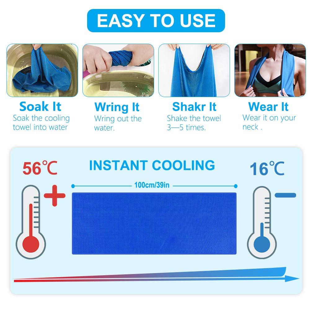Kühltuch Handtuch Fitnesshandtuch Sporthandtuch Abkühlung Super cooling Towel