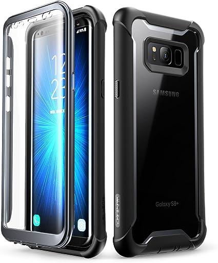 i-Blason Funda Galaxy S8 Plus [Ares] Transparente Case Carcasa Completa con Protectores de Pantalla Incorporados para Samasung Galaxy S8 Plus (Negro): Amazon.es: Electrónica
