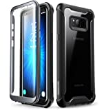 Samsung Galaxy S8+ Plus case, i-Blason [Ares] Full-body Rugged Clear Bumper Case with Built-in Screen Protector for Samsung Galaxy S8+ Plus 2017 Release (Black)