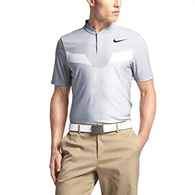 7514ba8490f23 Amazon.com: NIKE ZONAL COOLING MM FLY BLADE MENS STANDARD FIT GOLF POLO  (WOLF GREY, Medium): Clothing