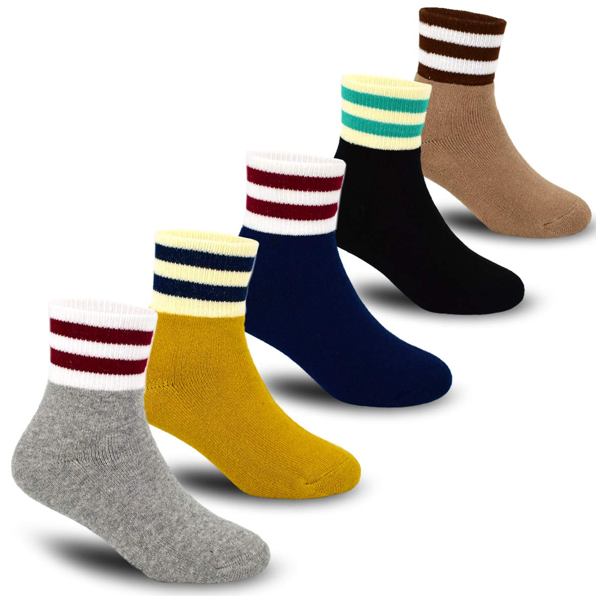 Boys Thick Cotton Socks Kids Winter Warm Socks 5 Pack