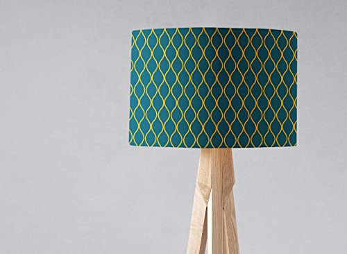 Teal shade and light Dark Yellow Ceiling Geometric Lampshade nOXPNwk80