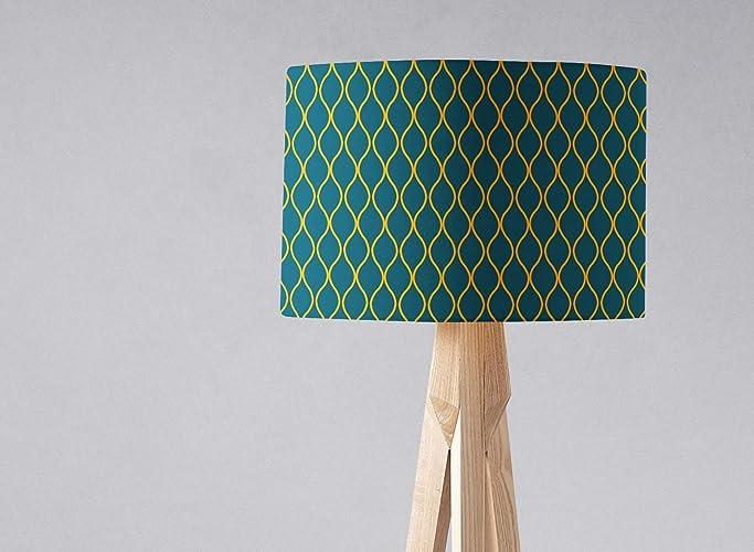 e26f8448955c Amazon.com: Navy blue and Yellow Lampshade Light Shade: Handmade