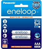 Panasonic Battery Eneloop BK-4MCCE/2BN 800mAh AAA Rechargable Battery - Pack of 2 (White)