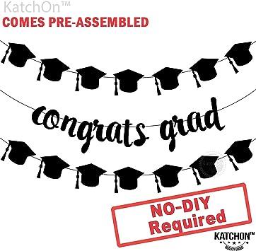 Amazon.com: Pancarta de graduación Congrats – Montado ...