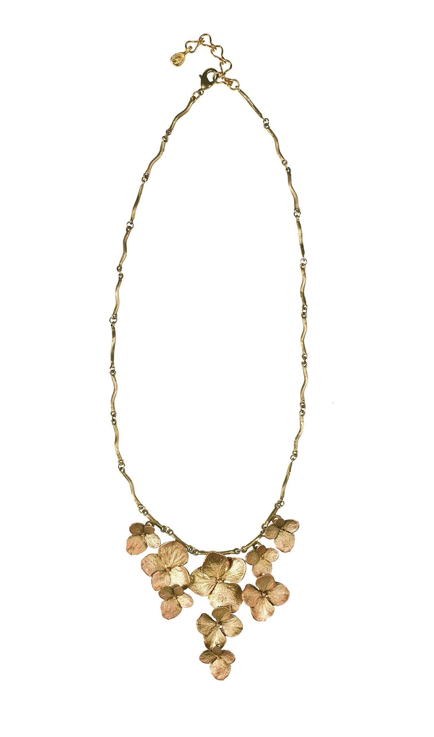 ''Hydrangea'' Contour Necklace by Michael Michaud for Silver Seasons