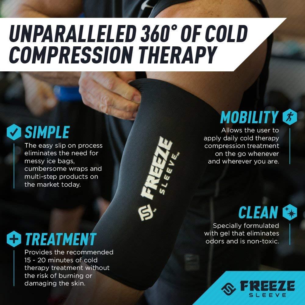 FreezeSleeve Manicotto a Compressione per Terapia a Freddo