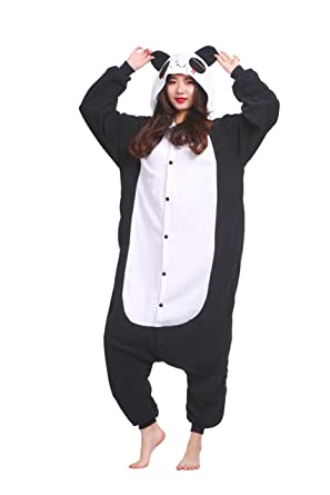 Magicmode Unisex Cartoon Cosplay Animals Costumes Adults Anime Onesie Pajamas Sleepwear Shy Panda S