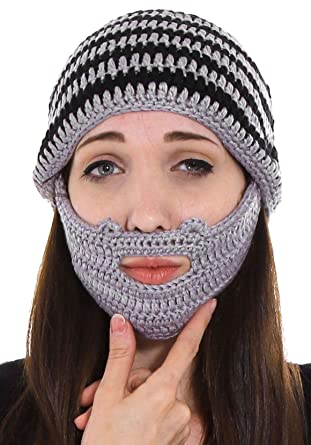 Amazon Simplicity Women Mens Beard Beanie Mustache Mask Face