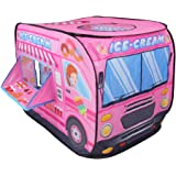 Nuheby Kids PlayTent Car Tent Indoor Outdoor Playhouse for Kids Foldable Ice Cream Toy Tent Boys Girls 3 4 5 Years Old