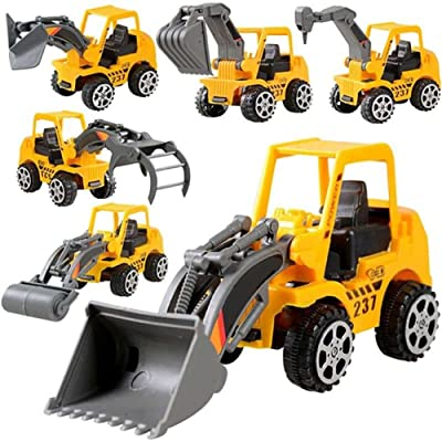 Bluelans Kids Construction Vehicle Truck Mini Engineering Vehicle Car Toy Excavator Educational Toy Gift for Kids Boys Girls Xmas Gifts Xmas Stocking Fillers Party Bag Gifts: Toys & Games