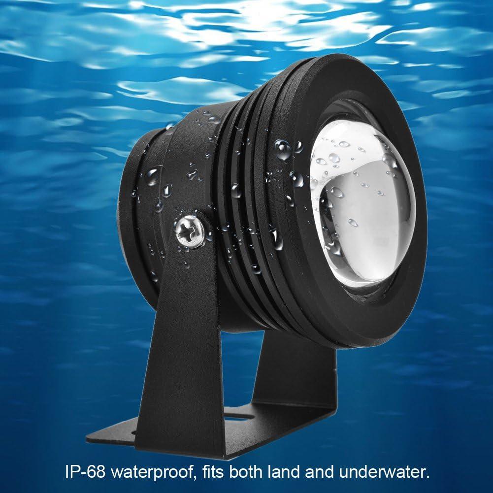 1# AUNMAS /Étang /étanche Lumi/ères Aquarium sous-Marine R/églable Projecteur 12V 10W RVB LED Lampe pour Fish Tank Garden Pool