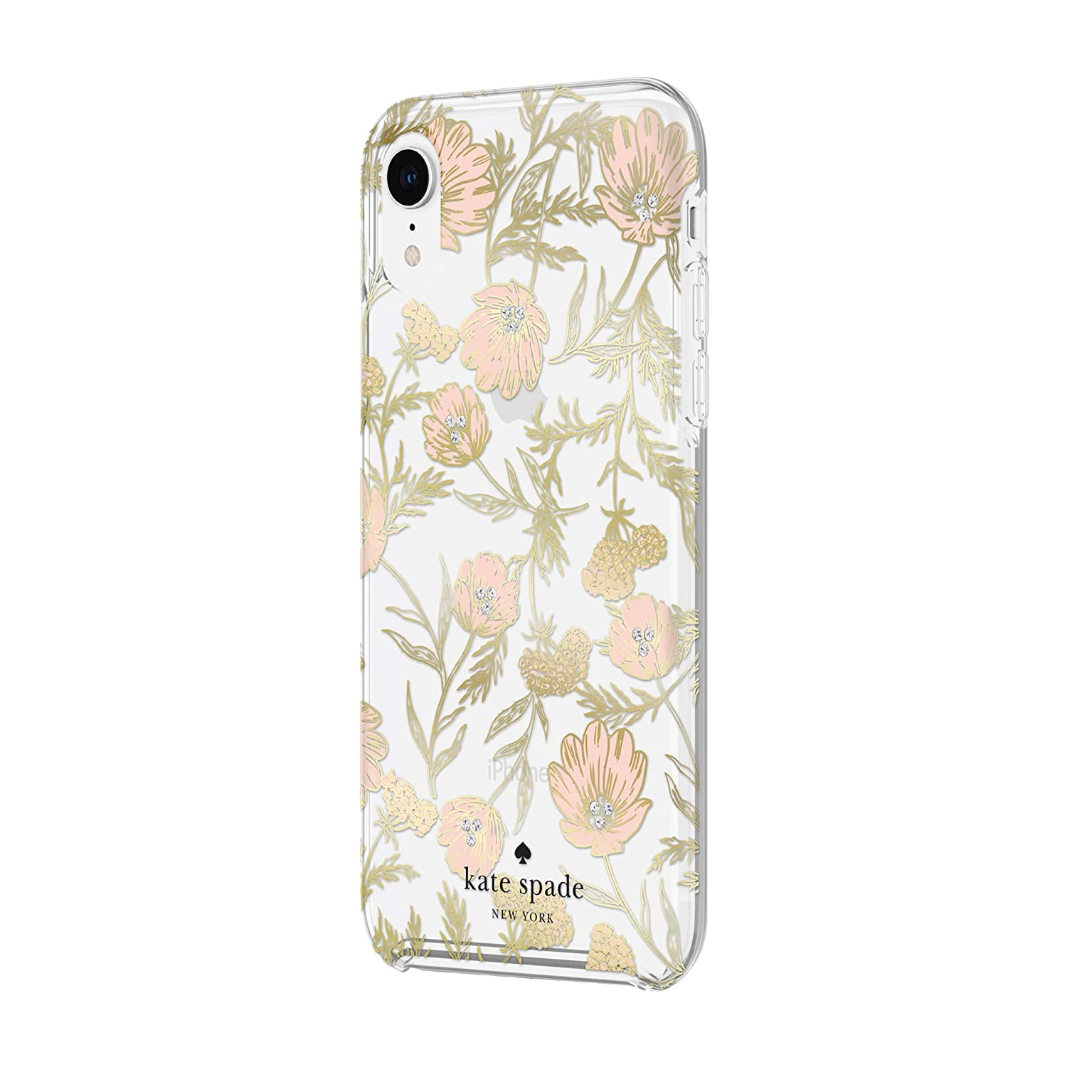 differently 5528e e1612 Kate Spade New York Phone Case for Apple iPhone XR Protective Phone Cases  with Slim Design Drop Protection and Floral Print, Blossom Pink/Gold with  ...