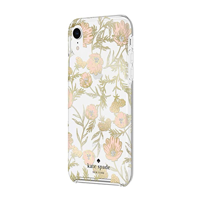 differently 29bac 98577 Kate Spade New York Phone Case for Apple iPhone XR Protective Phone Cases  with Slim Design Drop Protection and Floral Print, Blossom Pink/Gold with  ...