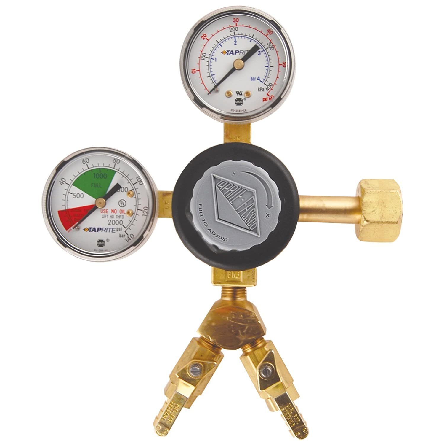 Brass Taprite CGR263 2 Product High Volume Primary CO2 Regulator-Polycarbonate Body
