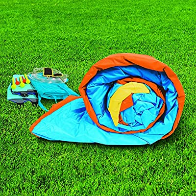 BANZAI 35543 Plummet Falls Adventure Slide Inflatable Water Park, Multicolor: Toys & Games